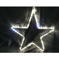 Warm WHITE LED Star with Blinking Bulbs