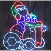 LED Santa on Tractor