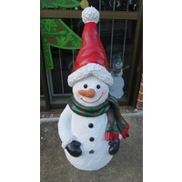 "35"" Tall Resin Outdoor Snowman"