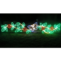 LED Festive Rope Light Motif Garland with Butterfly
