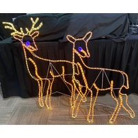 Two LED Reindeer Rope Light Motif - taking orders for 2017