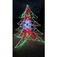2.8M Tall Commercial Christmas Tree Rope Light Motif 3D