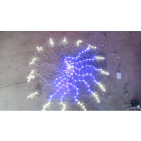 150cm Diameter LED Blue and White Clock Round Net Light (see video in description) - 1 left in stock