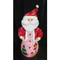 100cm Tall Battery Operated Santa with Snowfall effect