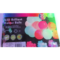 5.7M Long LED Colour Changing Party Globe Fairy Lights
