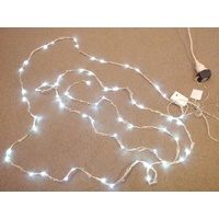 6M long white LED Waterfall Strand