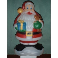 48cm Tall Santa with Teddy Bear and Present
