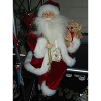 "16"" Sitting Santa in Red Coat"