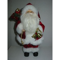 30cm Chubby Santa in Red Coat