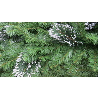 9 Foot Long Plain Green Garland with Snow Tips