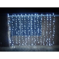 White LED Curtain Light 3m wide x 2.4m drop (Hire price)