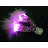 2.5m long Pink LED Fairy Lights with Feathers - CLEARANCE PRICE