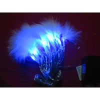 2.5m long Blue LED Fairy Lights with Feathers -CLEARANCE PRICE