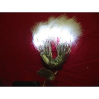 2.5m long White LED Fairy Lights with Feathers  - CLEARANCE PRICE