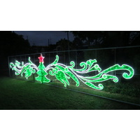 Giant Garden LED Rope Light Motif with Christmas Tree