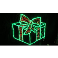Giant Giftbox with Bow 1m x 1m (Rope and String Lights)