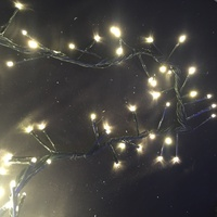 10M Warm White LED Cluster Firecracker String Light