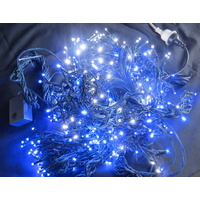 15M Cool White and Blue LED Icicles
