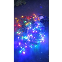 15M Multi Coloured LED Icicles