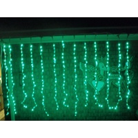Green Static LED Curtain Light 2.4m x 1.5m
