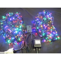 100M Multi Coloured LED String Lights (red, green, yellow and blue bulbs)