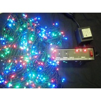 100M Long Multi Coloured LED String Lights (red, green and blue bulbs)
