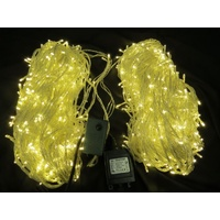 100M Warm White LED String Lights on Clear Wire