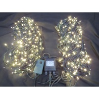 100M Warm White LED String Lights on Green Wire