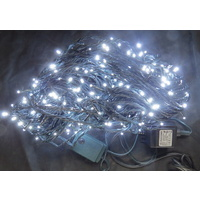 50m White LED String Set - green wire