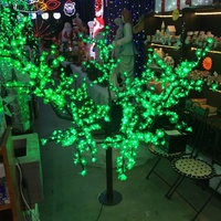 1.7M Tall Green LED  Cherry Tree with 864 Bulbs