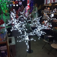 1.7M Tall White LED  Cherry Tree with 864 Bulbs