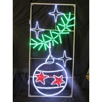 Large Commercial LED Bauble with Garland