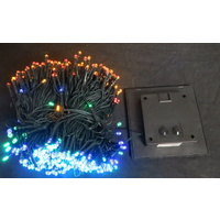 59.9M Long Multi Coloured LED Solar String Lights with 600 Bulbs
