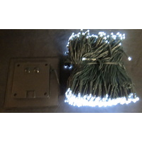 59.9M Long White LED Solar String Lights with 600 Bulbs