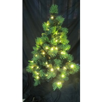 8 Foot Deluxe Pine Christmas Tree with 400 Warm White LED Lights