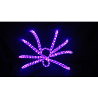 LED Purple Spider 3D Rope Light Motif
