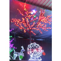 2.5M Tall Red LED Cherry Blossom Tree
