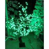 1.35m Tall Green LED Cherry Tree