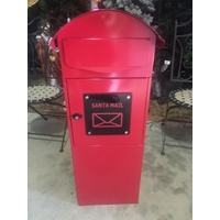 1m Tall Metal Santa Mailbox (lockable)