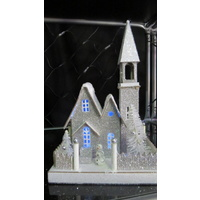 LED Light Up Silver Church