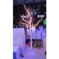 1.5M Tall White Twig Tree with Red and Green LED Bulbs (see video in description)