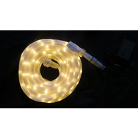 10M  Warm White LED Rope Light (Translucent) with Transformer/Controller