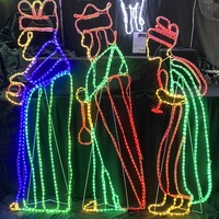 3 Wise Men LED Rope Light Motif