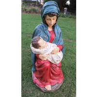 Resin Mary with Jesus  62cm tall