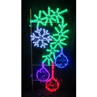 LED Garland with Snowflake and Baubles