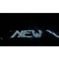 Giant Programmable Red LED Digital Net Light