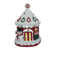 Light Up Resin Christmas Candy House
