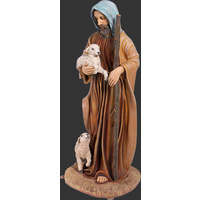 132cm Tall Adult Shepherd with 2 sheep