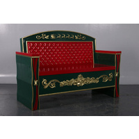 Large Resin Christmas Bench