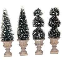 Cone-Shaped & Sculpted Topiaries, Set of 4 - avail August 2021